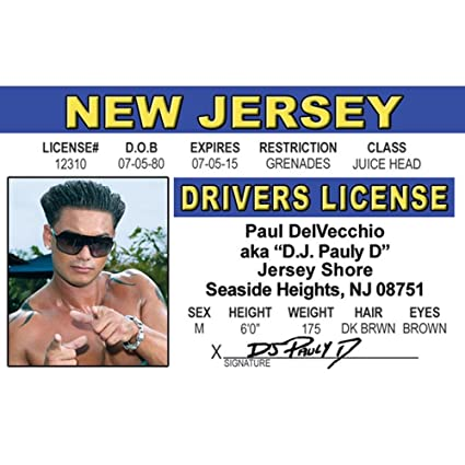 Driver's Kitchen com License Amazon 4 Njids5 Dj Home Fun Pauly amp; D's Signs