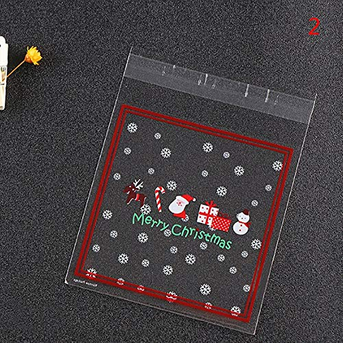 Bags & Wrapping Supplies - 100pcs Christmas Cookie Gift Bags Santa Claus Snowman Snacks Biscuits Packaging Plastic Candy Bag - Candy Gift Chocolate Candy Lollipop Party Bag Gift Bag Candy Bags G