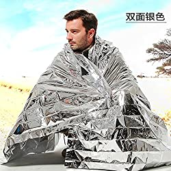 Foil Mylar Rescue Blanket - Foil Rescue Blanket - New Outdoor Water Proof Emergency Survival Rescue Blanket Foil Thermal Space First Aid Sliver Rescue Curtain Military Blanket