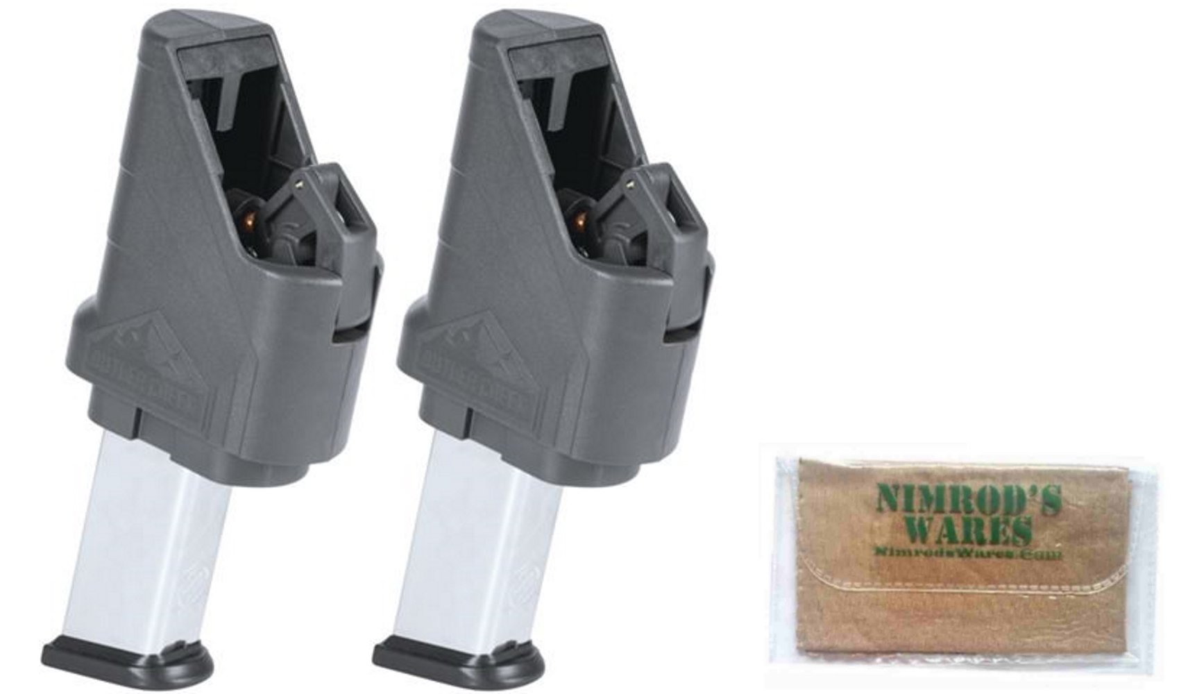 Nimrod's Wares 2-Pack Butler Creek ASAP Double Stack Magazine Loaders .380-.45ACP Microfiber Cloth