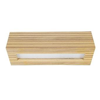 Light Deckenleuchte Holz 23cm Wenge Deckenlampe Glas Holzleuchte