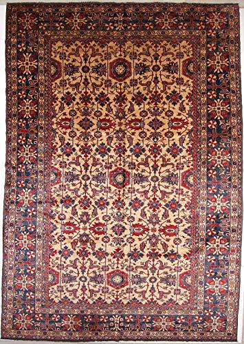 RugInRoll AfghanistanHand-Knotted Superkazak Pattern, Design, Wool on Cotton, Antique, Handmade Area Rug, (11' 2