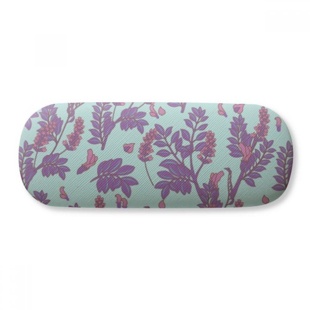 Flowers Plant Painting lavender Glasses Case Eyeglasses Clam Shell Holder Storage Box