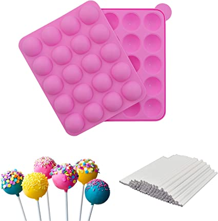 US Silicone Tray Pop Cake Stick Mould Lollipop Cupcake Party Baking Mold New