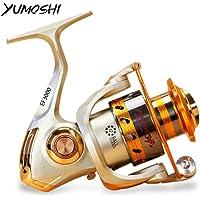 Zorbes Yumoshi Metal Spool Spinning Fishing Reel Carretilha Pesca Wheel 12-Ball Bearing