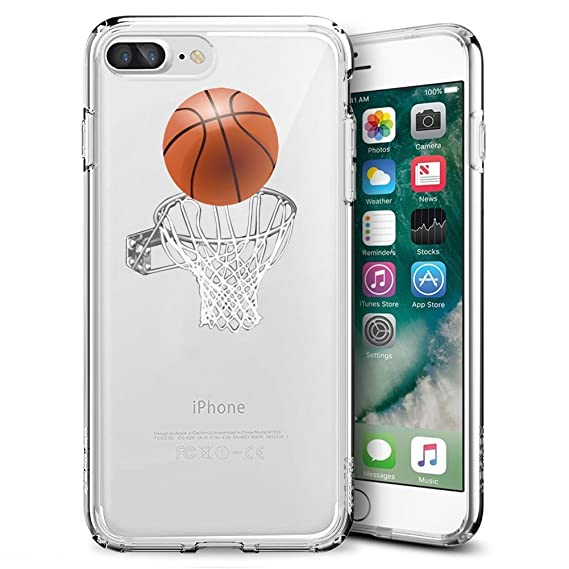 info for 4d6ee 3905d Amazon.com: Slim Clear Basketball Case For iPhone 7 Plus 8 Plus ...
