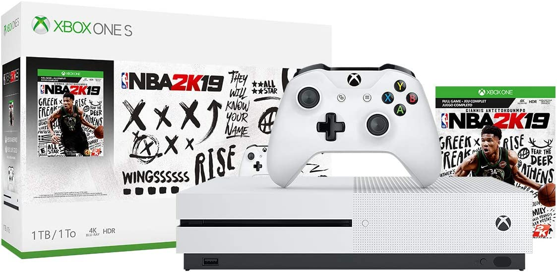 Xbox One S 1TB Console - NBA 2K19 Bundle + Echo Dot (3rd Gen)