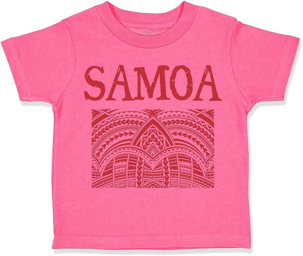 Custom Toddler T-Shirt Samoa Cotton Boy /& Girl Clothes Funny Graphic Tee