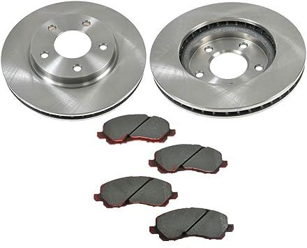 2010 Fit Dodge Caliber w//Rear Drum Brake OE Replacement Rotors Ceramic Pads F