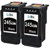 LxTek PG-245XL PG-245 245XL 245 XL Ink Cartridge for Pixma MX492 MG2522 MG2922 MG2920 MG2520 MG2420 MX490 MG2525 2555 with Ink Level Chip(2 Black)
