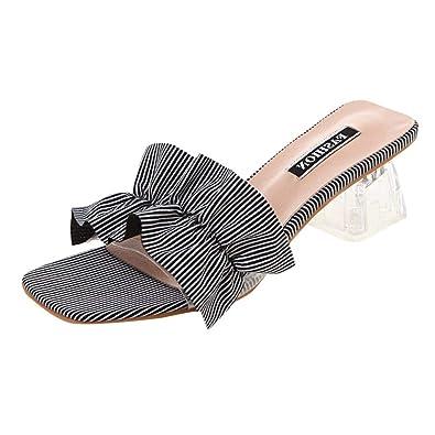 e14f3f624d ERLOU Womens Sandals, Summer Fashion Versatile Ladies Casual High Heel  Thick Heel Sandals Wild Slippers