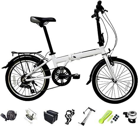 YRYBZ Bicicleta de Montaña Plegable, 6 Velocidades, Bicicleta ...