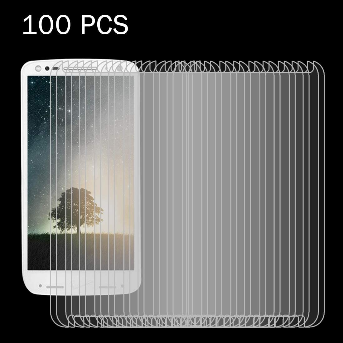 ZYS Screen Protector 100 PCS for Motorola Moto Droid Turbo 2 0.26mm 9H Surface Hardness 2.5D Explosion-Proof Tempered Glass Screen Film