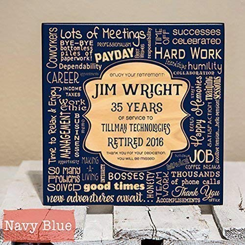amazon com personalized retirement collage gift wood engraving