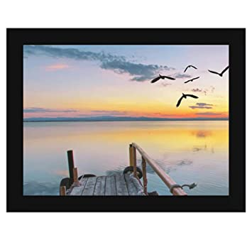 Amazon.com - 15 1/2 x 11 1/2 Black Frame - Wood MDF with 1 1/4 inch ...