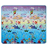 Dtemple Baby Kids Play Mat Crawling Mat Double Sides Foam Floor Activity Mat, Non-toxic Waterproof Toy Rug (US Stock) (Sea and Animal)