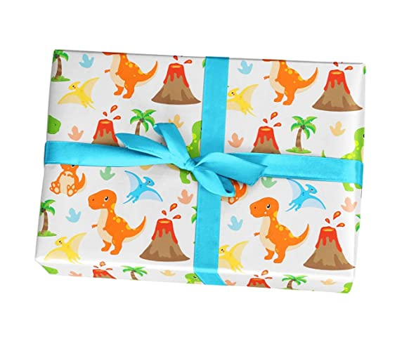 Dino Wrapping Paper Sheets