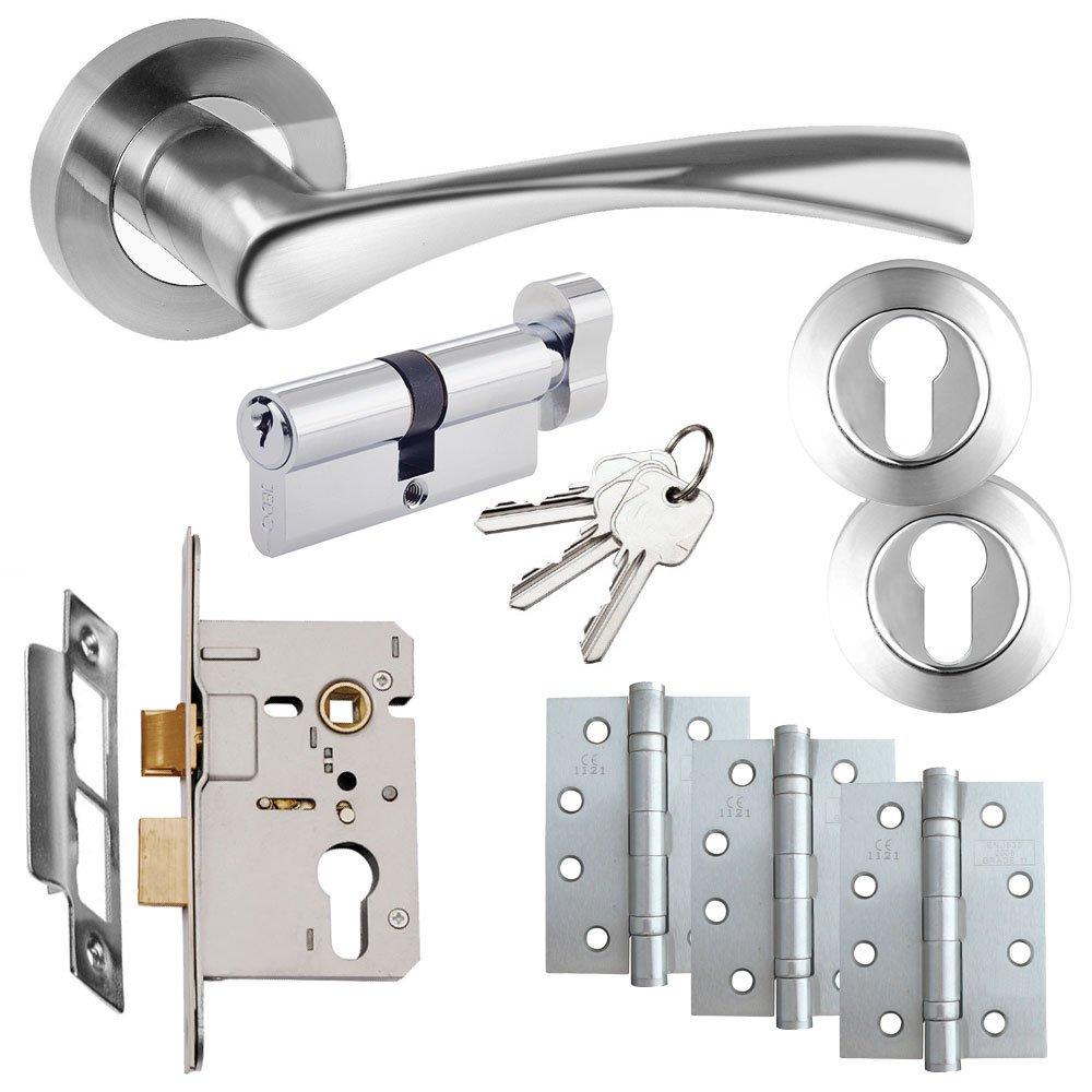 Astrid Door Handle Set - Euro Lock Door Pack eHardware