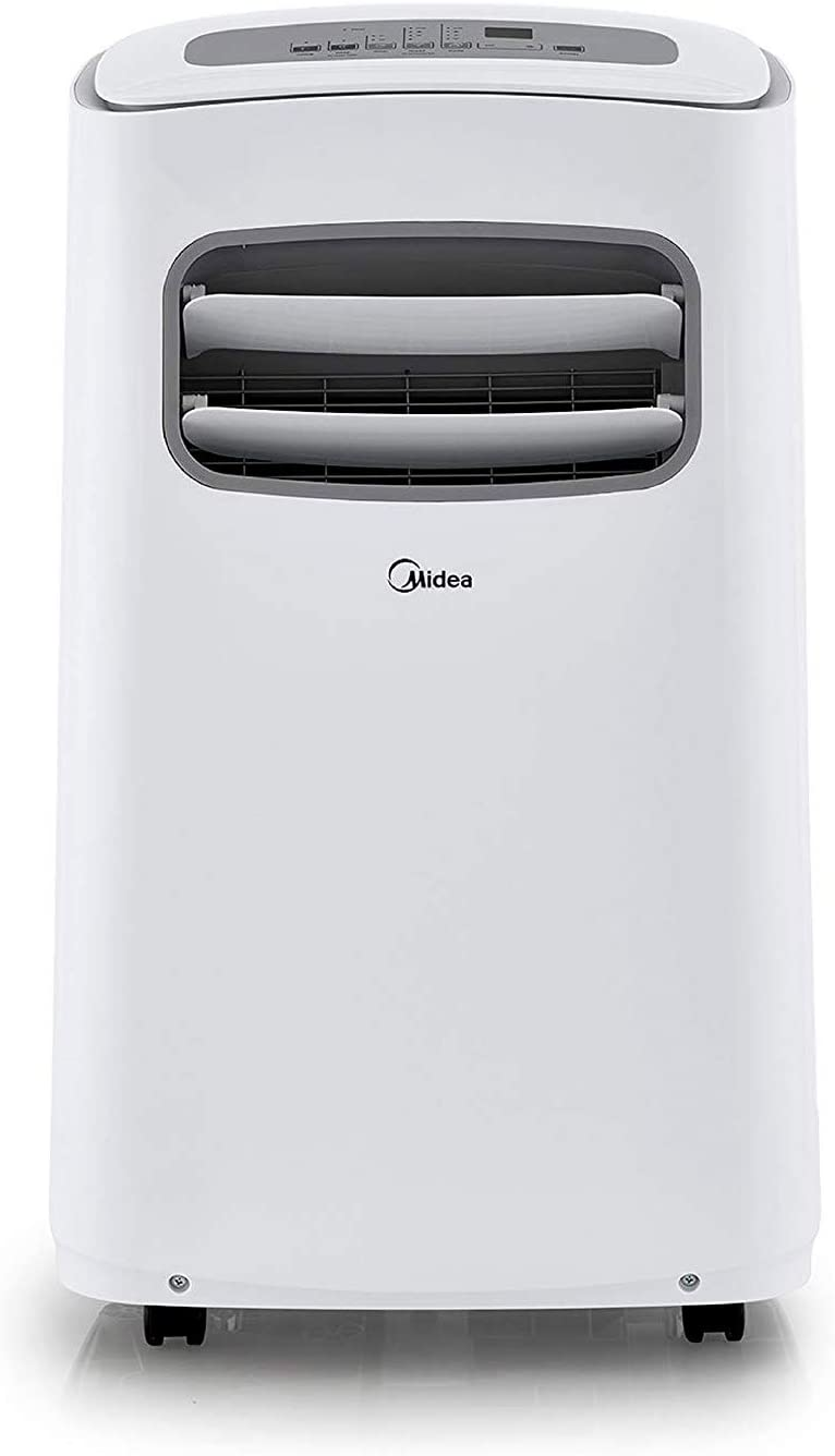 MIDEA MPF08CR81-E Portable Air Conditioner 8000 BTU Easycool AC (Cooling, Dehumidifier and Fan Functions) for Rooms up to 100 Sq, ft. with Remote Control, 8,000, White