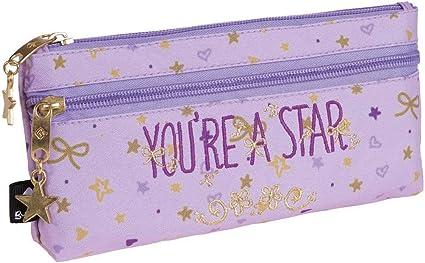 Busquets - Estuche Escolar Doble Star Busquets Violeta: Amazon.es ...