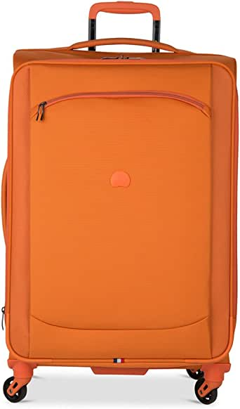 Amazon Com Delsey Hyperlite 2 0 25 Quot Expandable Spinner Trolley Orange Suitcases