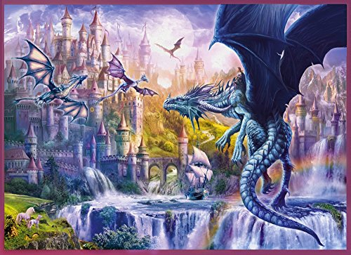 Posterazzi Dragon Castle Poster Print by Jan Patrick, (18 x 9) -