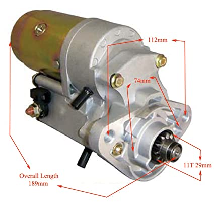 NEW AIRBOAT STARTER MOTOR FITS CONTINENTAL LYCOMING 11T 2 0KW DENSO TOYOTA  STYLE