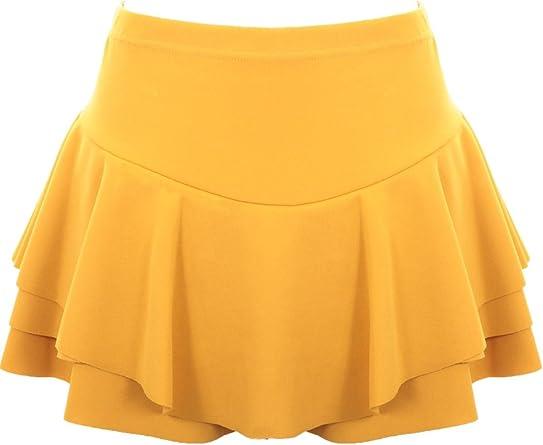 FANTASIA Boutique Mujer Elástico Volantes Falda pantalón ...
