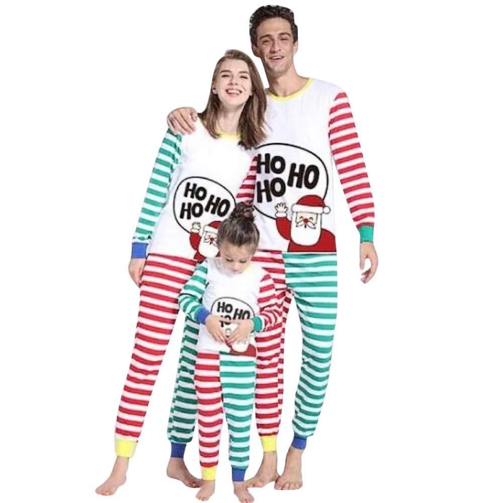 Riou Weihnachten Set Kinder Baby Kleidung Pullover Familie Pyjama Outfits Set Nachtwäsche Schlafanzug PJS Homewear für Eltern Jungen Mädchen Kleidung Sleepwear Set