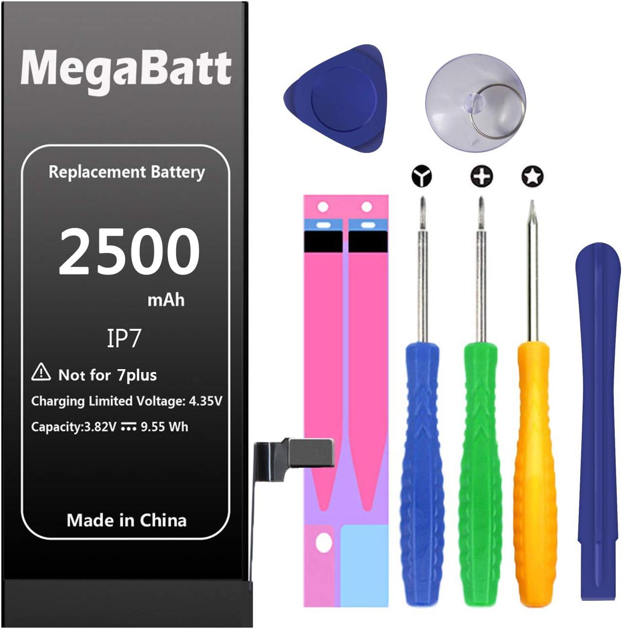 Batería MegaBatt para iPhone 7,capacidad de 2500 mAh(P7NQ)