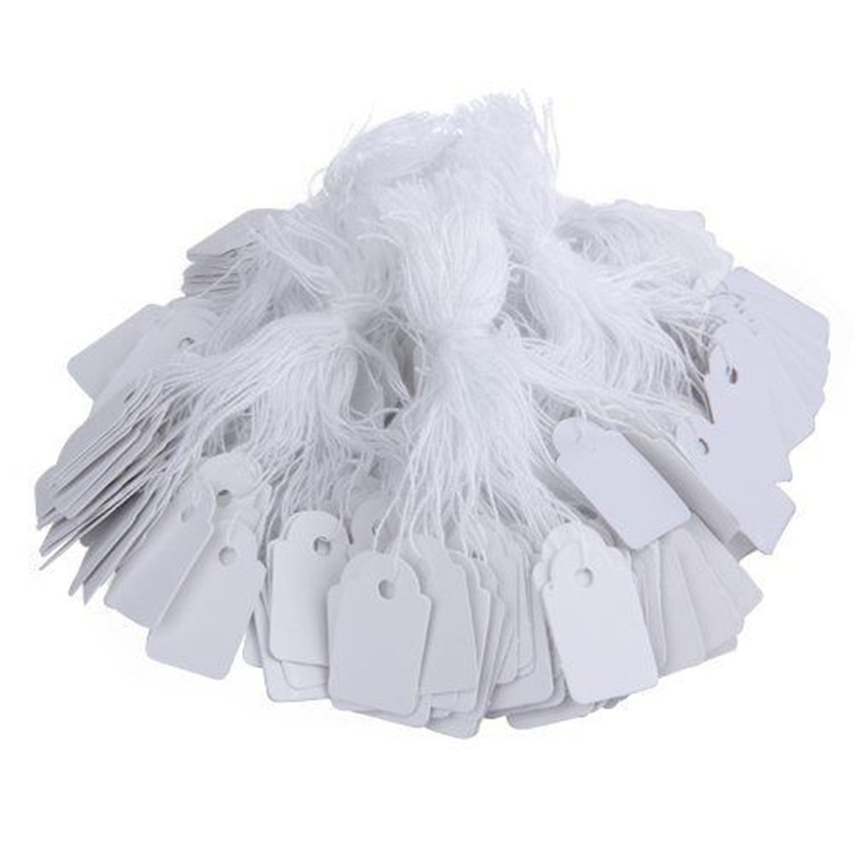 500pcs Label Tags with String for Jewelry Display Price Ticket Gift Luggage Tag (Blank) PDTO