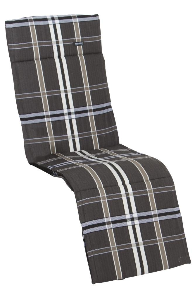 6 Stück MADISON Dessin Nils Auflage für Relaxliege, Liegenauflage, Sitzpolster, 100% Polyester, 160 x 50 x 4 cm, in taupe