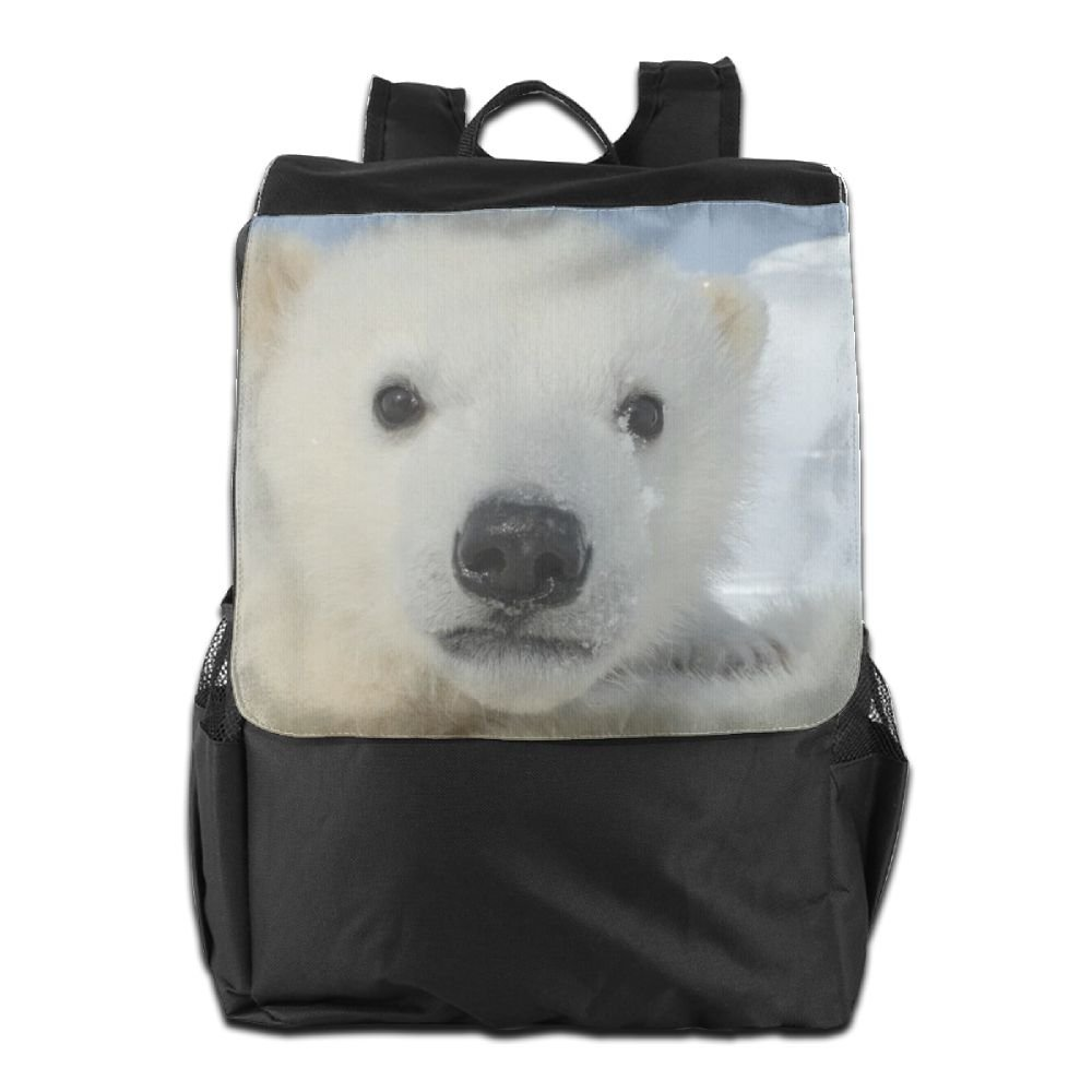 Polar Bear Baby Face Convenient Lightweight Travel Hiking Backpack Daypack Gift best