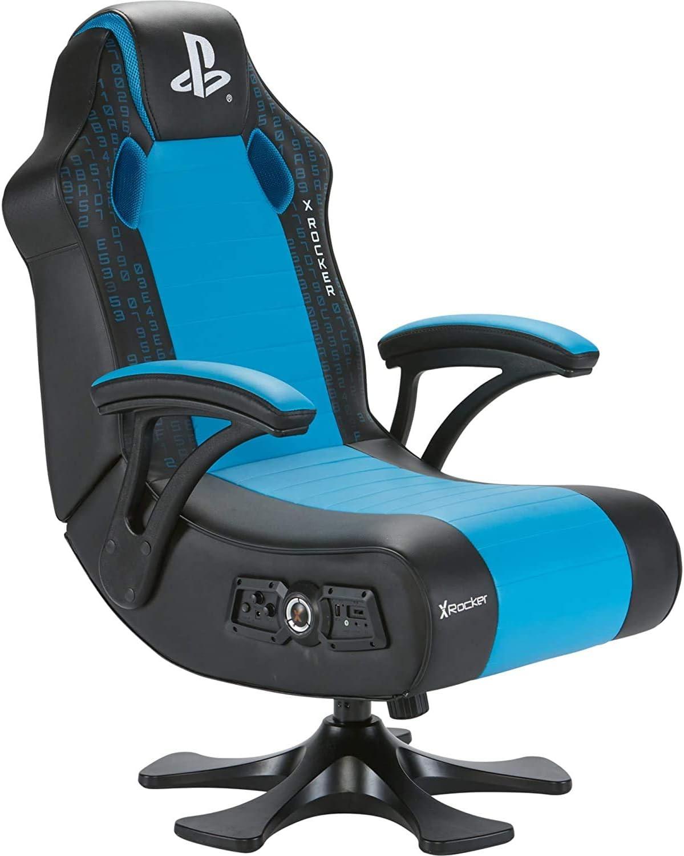 X Rocker Legend 2.1 Gaming Chair Gaming Stuhl, schwarzblau