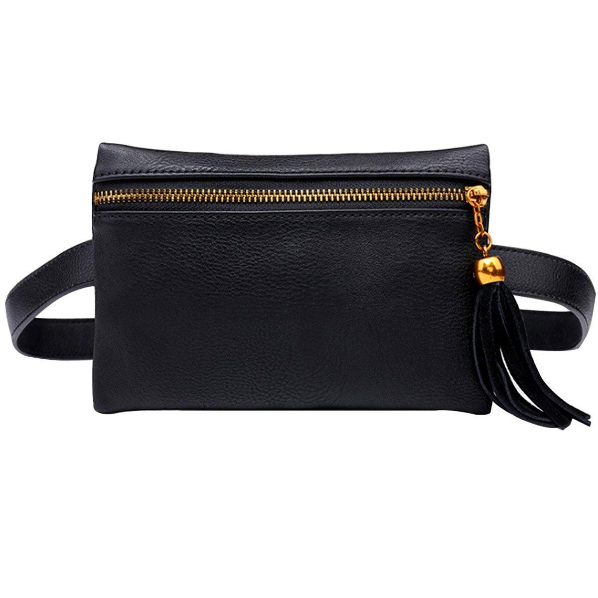 Sun Kea Fashion Women Waist Bag Tassel Fanny Pack Travel Bumbag Phone Pouch