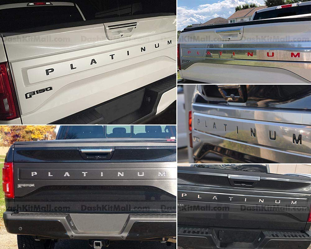 SF Sales USA F150 Rear Inserts Not Decals Matte Black Tailgate Letters for F-150 Platinum 2018