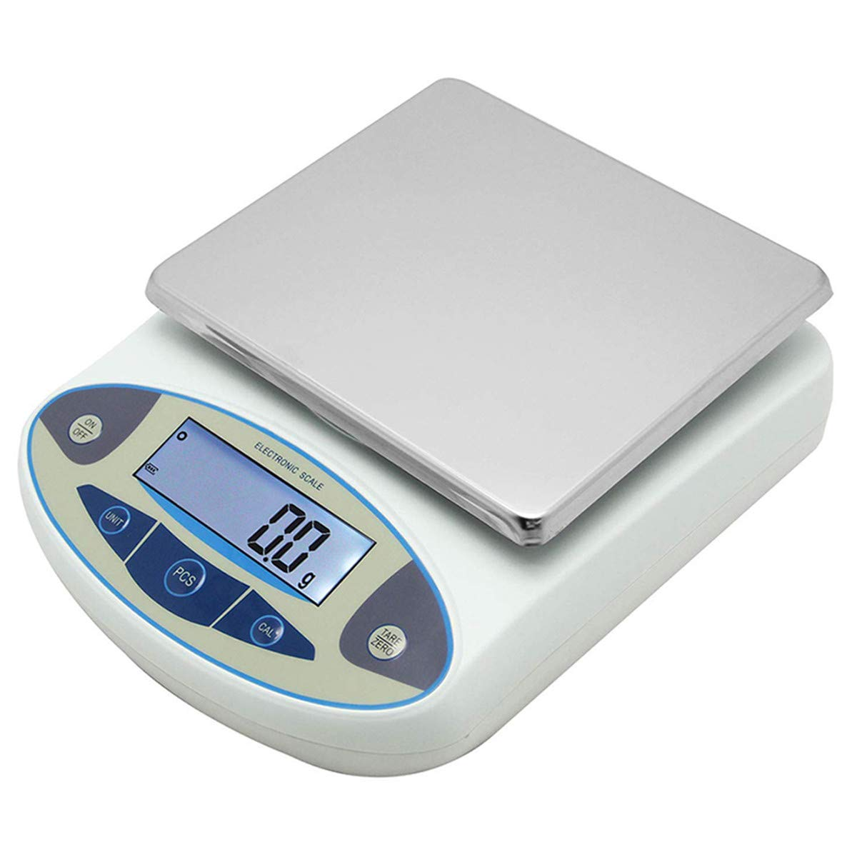 CGOLDENWALL Large Range Lab Digital Precision Analytical Electronic Balance Lab Scale Precision Jewelry Scales Kitchen Precision Weighing Scale 0.1g Calibrated Pan Size: 180 140mm (5kg, 0.1g) by CGOLDENWALL