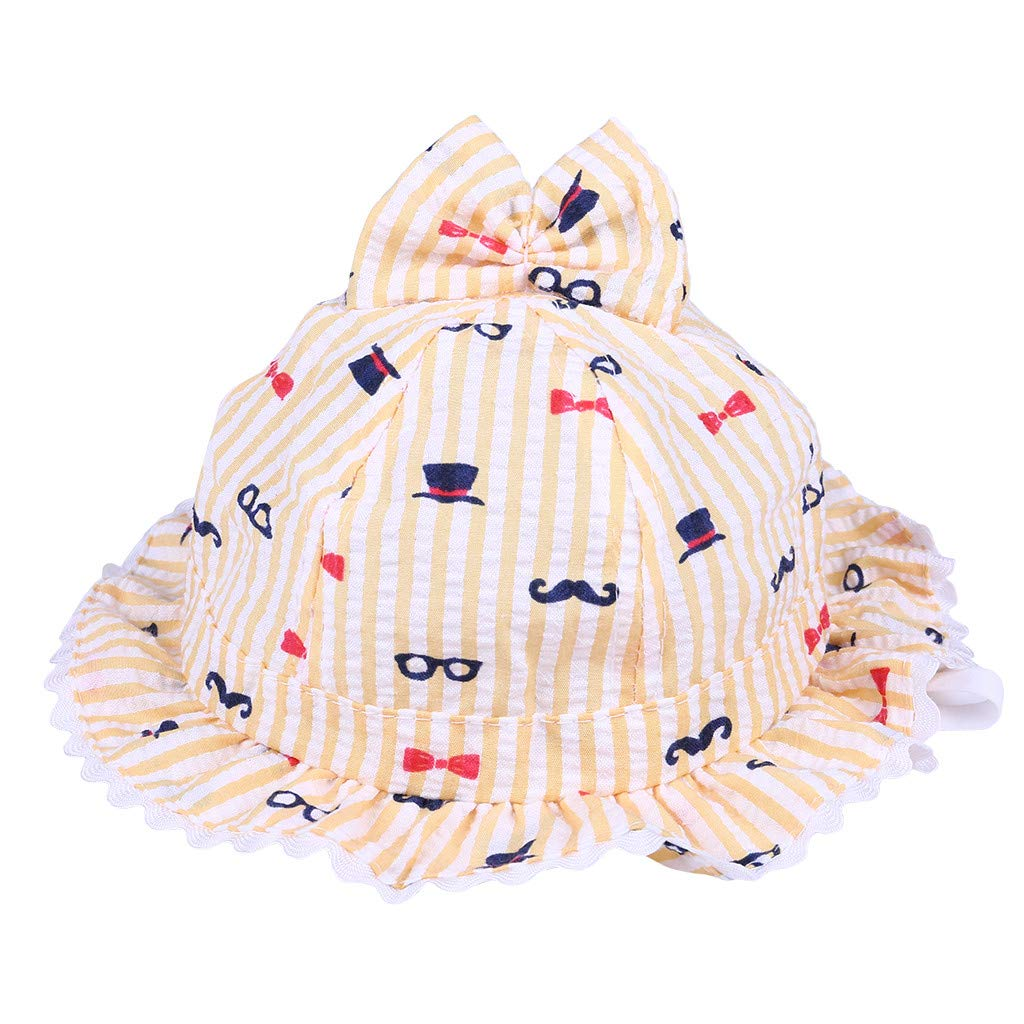 ❤️ Mealeaf ❤️ Lovely Baby Lace Infant Kids Girls Toddler Flower Cloth Hat Sun Hollow Cap(A,)