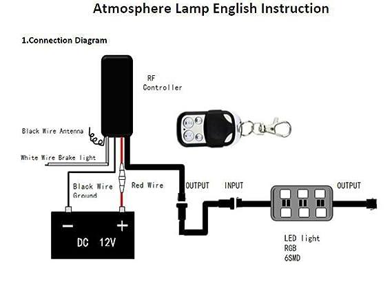 amazon com genbitty 8pcs rgb led car motorcycle chopper frame glow rh amazon com Marine Inboard Wiring-Diagram Goldstar GPS Wiring-Diagram