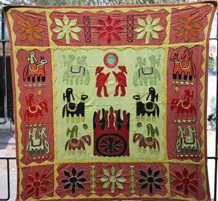 Colgante de pared decorativo indio Suzani tapices, Hippie gitana ...