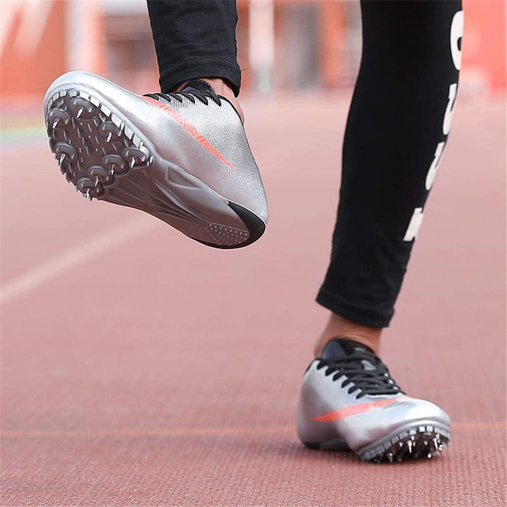 Spikes De Running Spikes Junior Sprint Chaussures De Running pour Enfants Comp/étition D/édi/ée Aux Chaussures De Saut en Longueur,Orange,35 XFQ Chaussures Athl/étisme pour Hommes