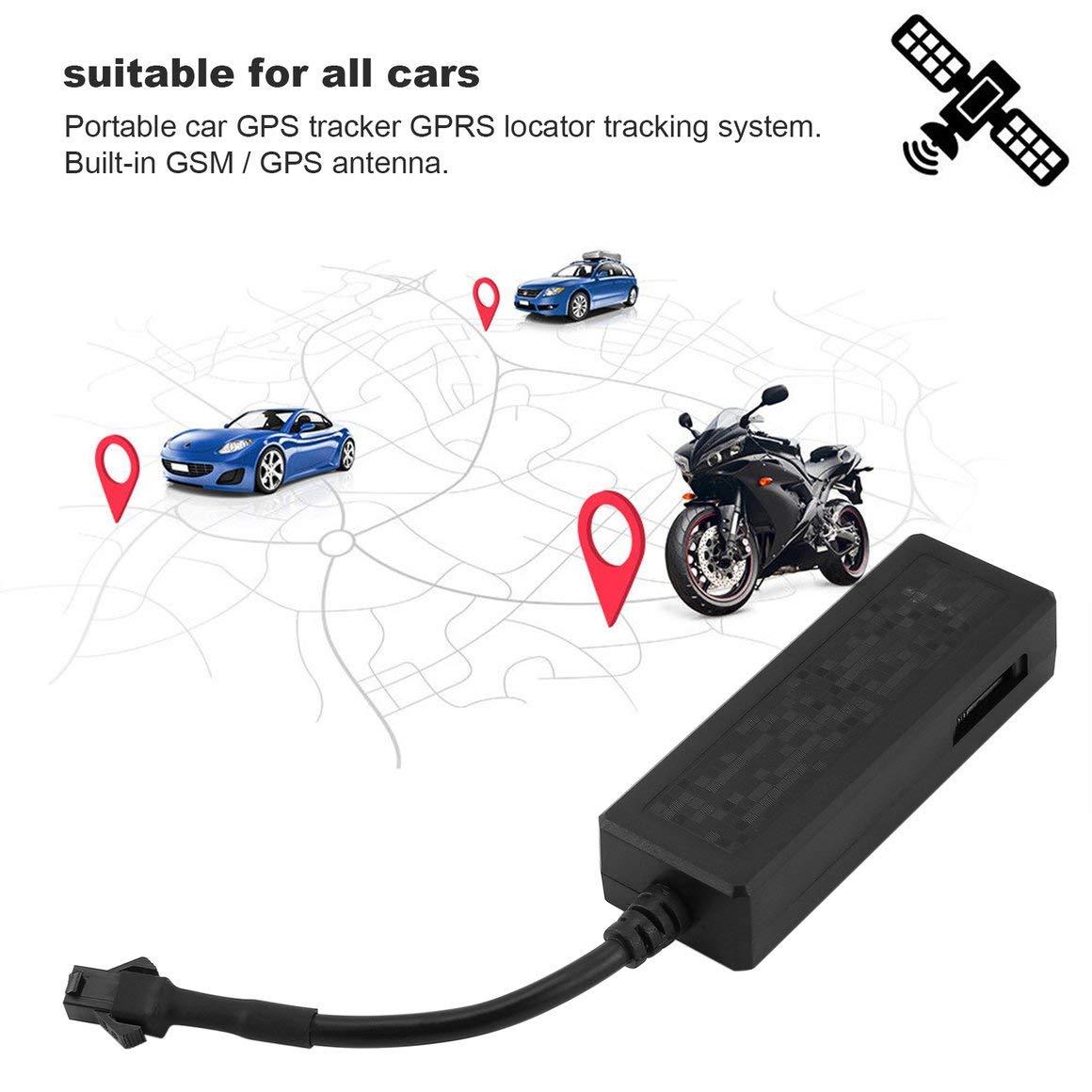 nero Funnyrunstore GPS per auto Tracker per veicoli Localizzatore GPS GSM GPRS Monitoraggio in tempo reale Dispositivo antifurto Protezione della privacy con cavo 2P