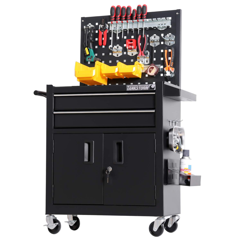 TANKSTORM Tool Chest Heavy Duty Cart Steel Rolling Tool Box with Lockable Doors (TZ12 Black) by TANKSTORM (Image #6)
