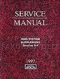 1997 Subaru SVX AWD System Repair Shop Manual Supplement Original