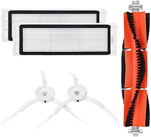 HSKB - Kit de piezas de repuesto para XIAOMI MI Robot Vacuum Home Applicance Part Especificación aspiradora, barredora y función de limpieza 1 cepillo principal 2 filtros 2 cepillos laterales: Amazon.es: Hogar