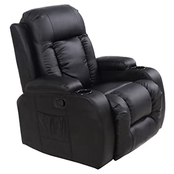 Exceptionnel Tangkula PU Leather Massage Chair Home Office Recliner Heated Deluxe  Ergonomic Lounge Sofa Chair W/