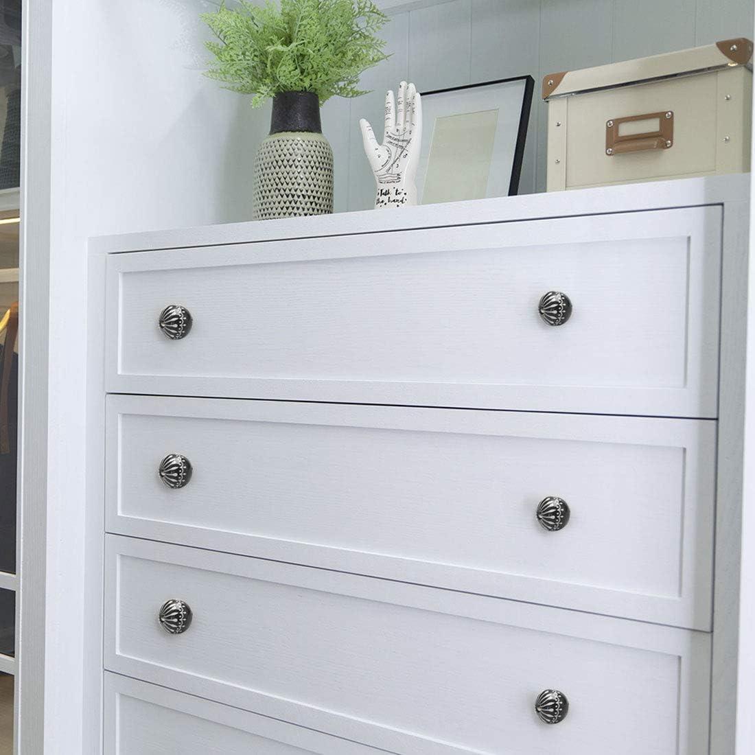 colore: nero porte per cassetti decorazioni cassettiere Set di 4 pomelli in ceramica armadi armadietti stile vintage Sourcingmap