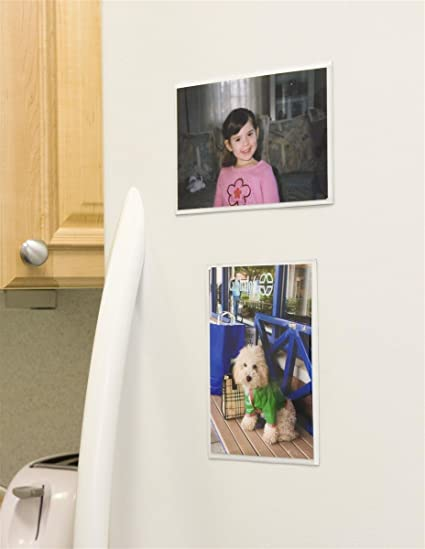 Amazon.com - Set of 48, Full Back Magnetic Photo Frame Pockets for ...
