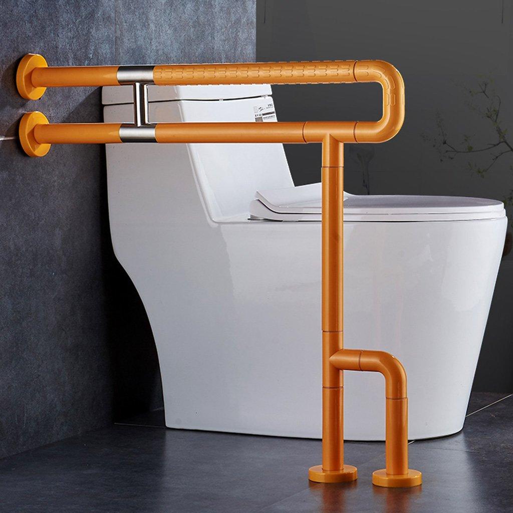 WSSF- 手すり ステンレススチールバスルームトイレ高齢者の安全手すり障害トイレバリアフリーバリアスリップサポートハンドルカラーオプション (色 : イエロー いえろ゜)  イエロー いえろ゜ B07B7KCB8B