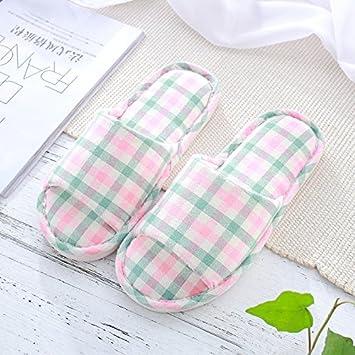 sommer - schlappen holzboden leinen - baumwoll - pantoffeln männliche paare zu hause im frühjahr baumwolle pantoffeln weibliche inneneinrichtungsgegenstände gitter,36,des